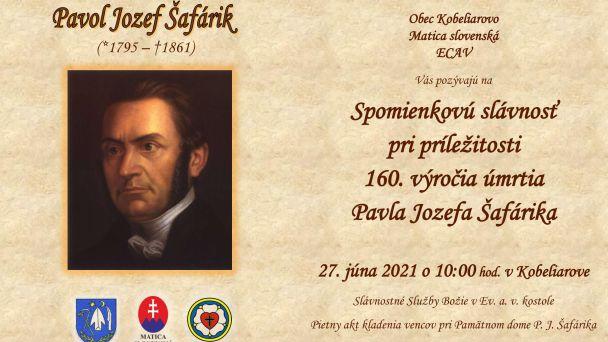 Spomienková slávnosť pri príležitosti 160. výročia úmrtia Pavla Jozefa Šafárika